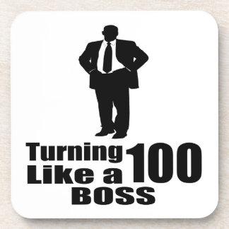 Turning 100 Like A Boss Coaster