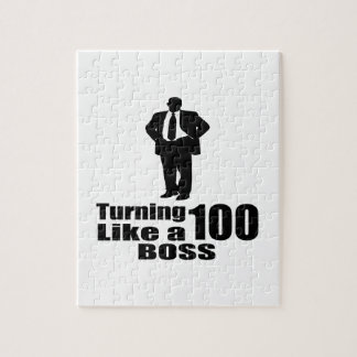 Turning 100 Like A Boss Jigsaw Puzzle