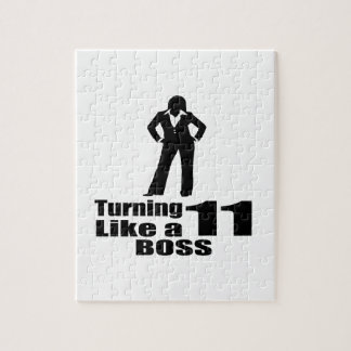 Turning 11 Like A Boss Jigsaw Puzzle