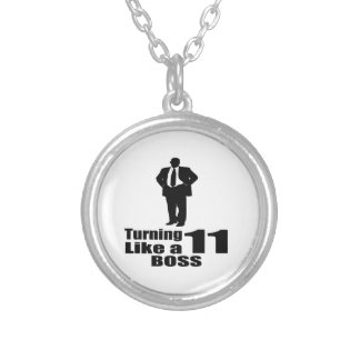 Turning 11 Like A Boss Silver Plated Necklace