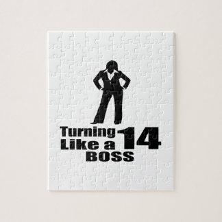 Turning 14 Like A Boss Jigsaw Puzzle