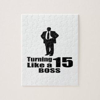 Turning 15 Like A Boss Jigsaw Puzzle