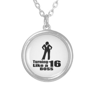 Turning 16 Like A Boss Silver Plated Necklace