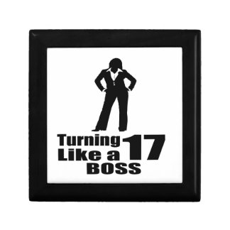 Turning 17 Like A Boss Gift Box
