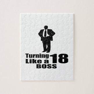 Turning 18 Like A Boss Jigsaw Puzzle