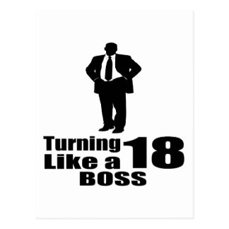 Turning 18 Like A Boss Postcard