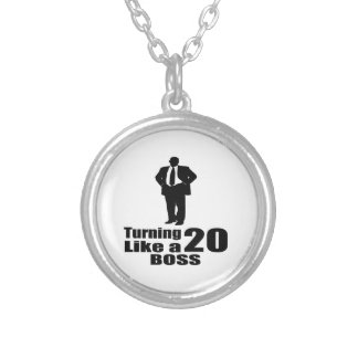 Turning 20 Like A Boss Silver Plated Necklace