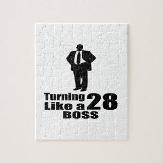 Turning 28 Like A Boss Jigsaw Puzzle