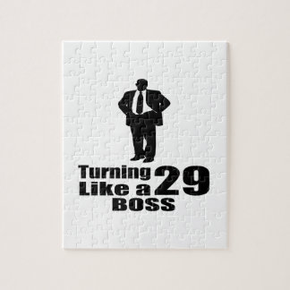 Turning 29 Like A Boss Jigsaw Puzzle