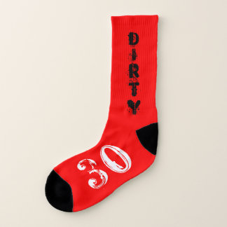 Turning 30 Dirty 30 30th Birthday Party Socks 1