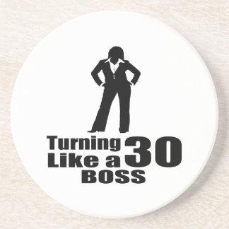 Turning 30 Like A Boss Coaster