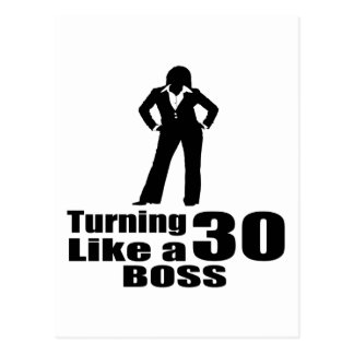 Turning 30 Like A Boss Postcard