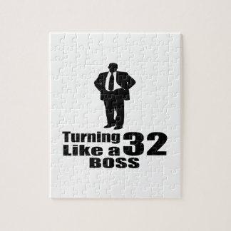 Turning 32 Like A Boss Jigsaw Puzzle