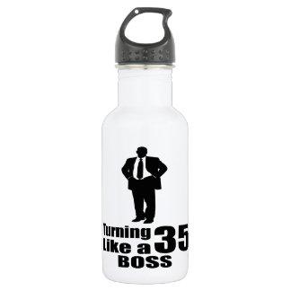 Turning 35 Like A Boss 532 Ml Water Bottle