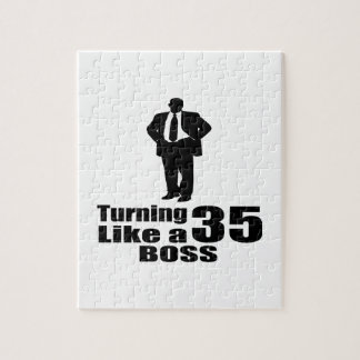 Turning 35 Like A Boss Jigsaw Puzzle