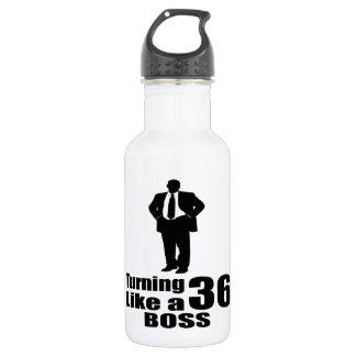Turning 36 Like A Boss 532 Ml Water Bottle