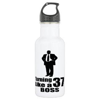 Turning 37 Like A Boss 532 Ml Water Bottle