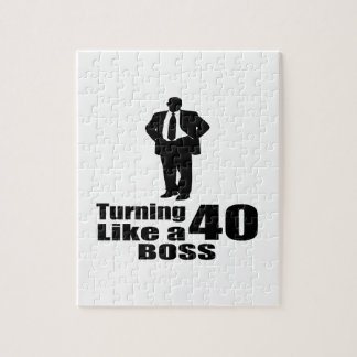 Turning 40 Like A Boss Puzzle