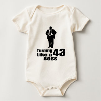Turning 43 Like A Boss Baby Bodysuit