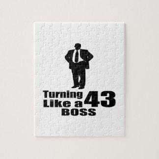 Turning 43 Like A Boss Jigsaw Puzzle