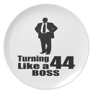 Turning 44 Like A Boss Plate