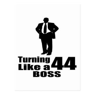 Turning 44 Like A Boss Postcard
