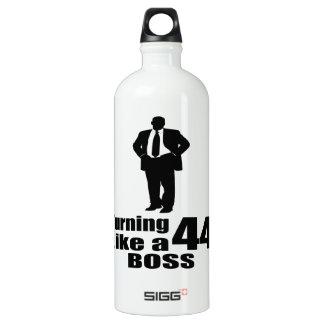 Turning 44 Like A Boss Water Bottle