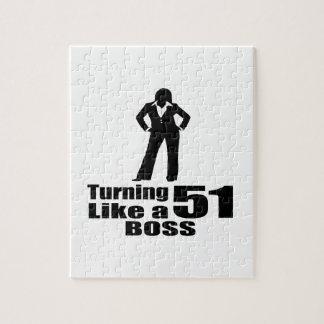 Turning 51 Like A Boss Jigsaw Puzzle