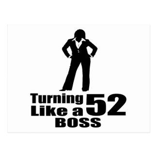 Turning 52 Like A Boss Postcard