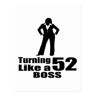 Turning 52 Like A Boss Postcard