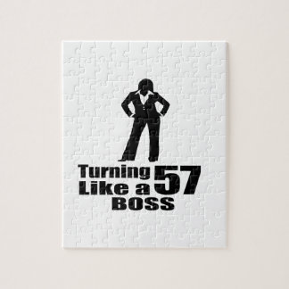 Turning 57 Like A Boss Puzzle