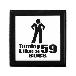 Turning 59 Like A Boss Gift Box