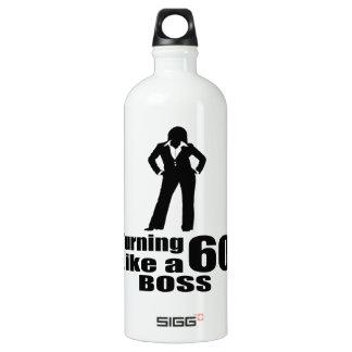 Turning 60 Like A Boss Water Bottle