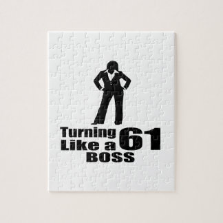 Turning 61 Like A Boss Jigsaw Puzzle