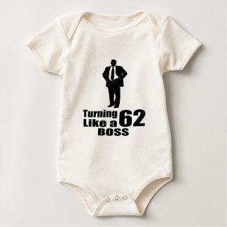 Turning 62 Like A Boss Baby Bodysuit
