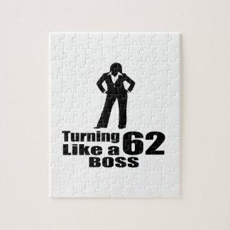 Turning 62 Like A Boss Jigsaw Puzzle