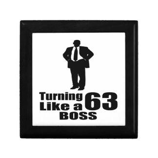 Turning 63 Like A Boss Gift Box