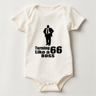 Turning 66 Like A Boss Baby Bodysuit