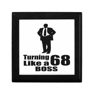 Turning 68 Like A Boss Gift Box