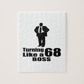 Turning 68 Like A Boss Jigsaw Puzzle