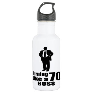 Turning 70 Like A Boss 532 Ml Water Bottle
