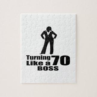Turning 70 Like A Boss Jigsaw Puzzle