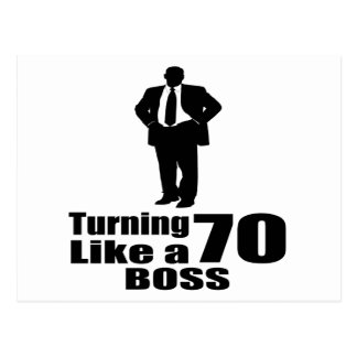 Turning 70 Like A Boss Postcard