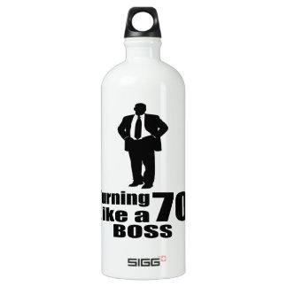 Turning 70 Like A Boss Water Bottle