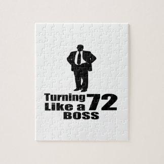 Turning 72 Like A Boss Jigsaw Puzzle