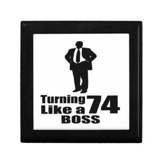 Turning 74 Like A Boss Gift Box