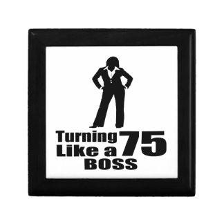 Turning 75 Like A Boss Gift Box