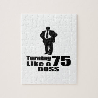 Turning 75 Like A Boss Jigsaw Puzzle