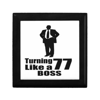 Turning 77 Like A Boss Gift Box