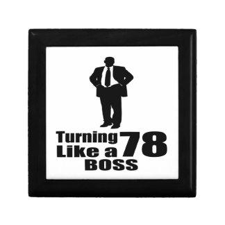 Turning 78 Like A Boss Gift Box